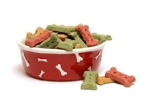 puppy treats in a bowl
