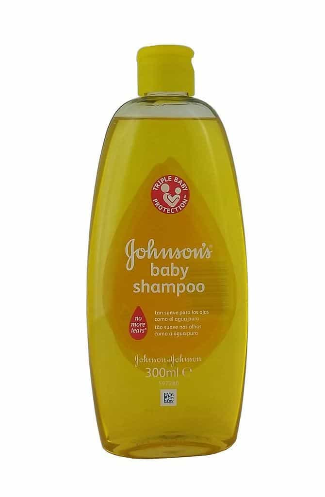 bottle of baby shampoo.