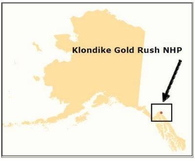 Map of the Klondike Gold Rush
