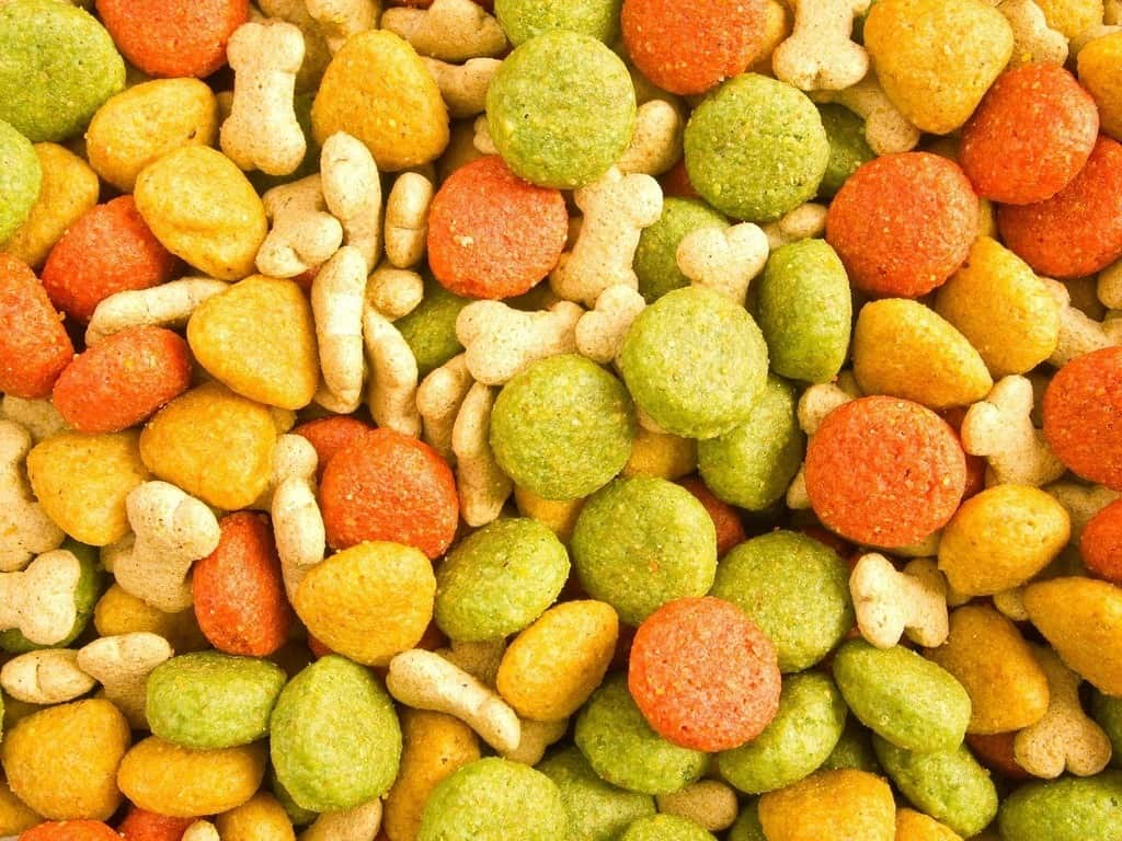 multicolor high calorie dry food