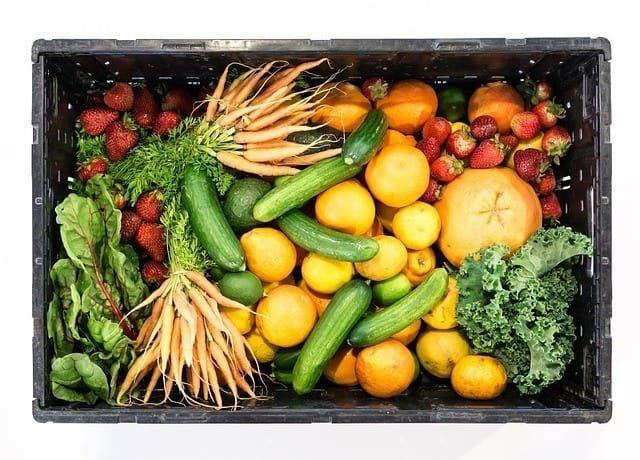 box fruit vegetables