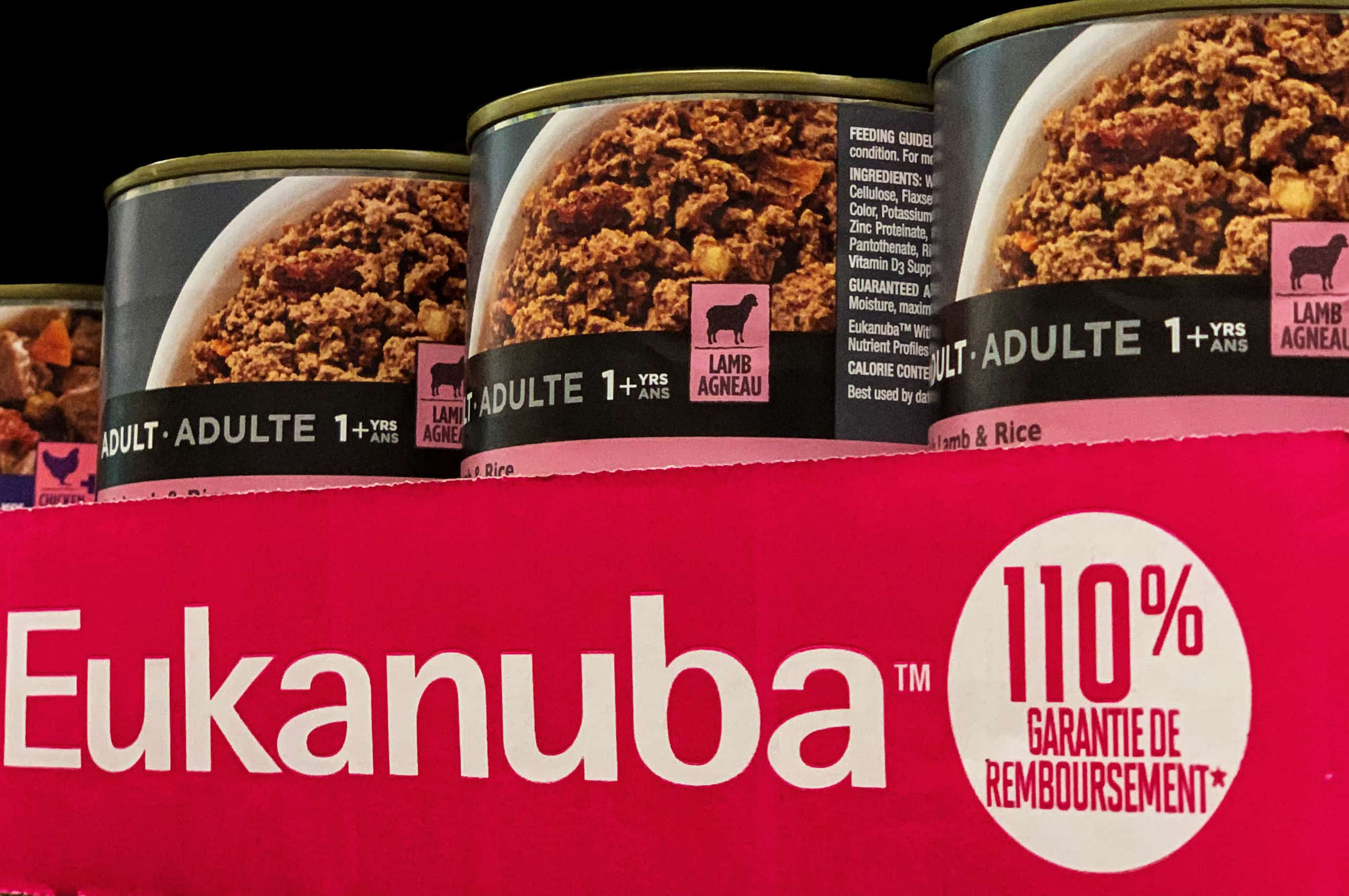 Eukaneba canned food in pink box